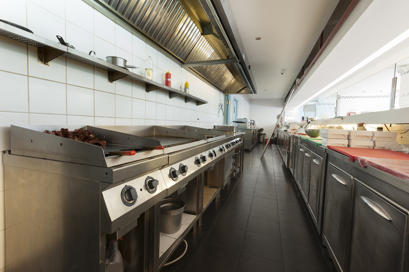 Tile In A Commercial Kitchen